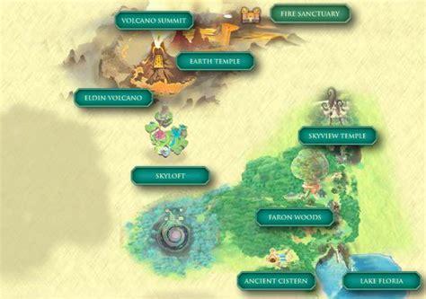Legend Of Zelda Skyloft Map | skyward sword skyloft map