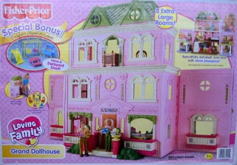 fisher price loving family grand doll house fisher price loving family grand dollhouse w bonus backyard playset 2008 mattel