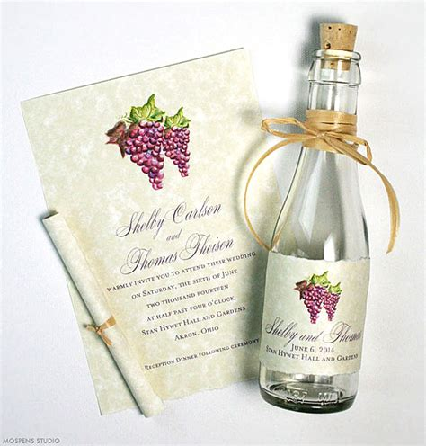 wedding invitations in a bottle winery invitations mospens studio