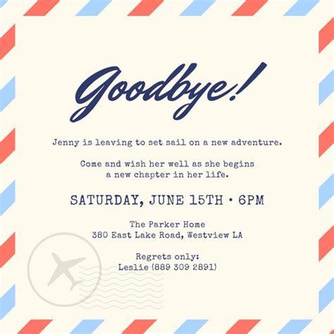 Farewell Invitation Templates by Farewell Invitation Templates Canva Goodbye