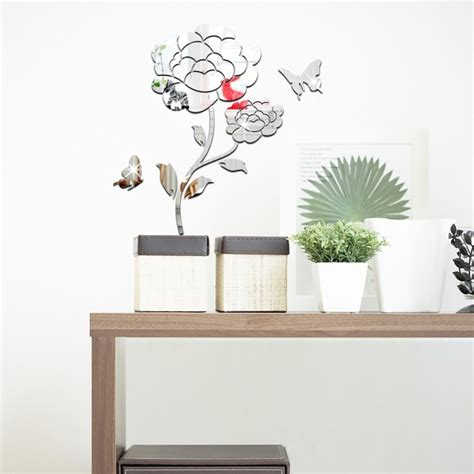 butterfly and flower wall stickers bird cage 3d flower and butterfly wall stickers buy flower and tech
