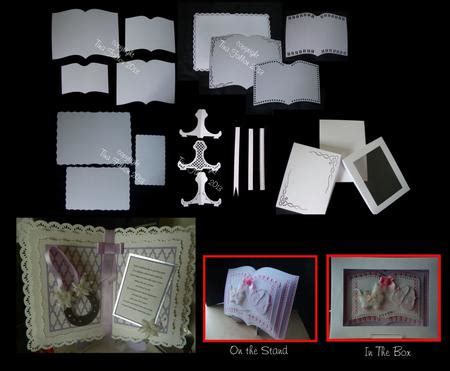 open book easel card template open book mix n match set inc box and stand cup692955