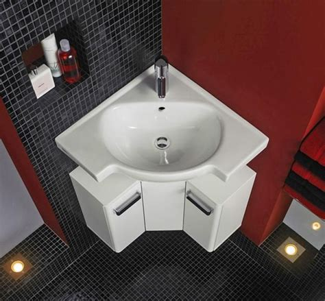 Small Space Bathroom Sinks by Corner Bathroom Sinks Creating Space Saving Modern
