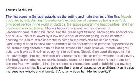 themes in gattaca essay techniques used in gattaca essay