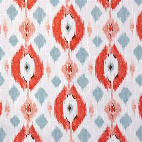 coral ikat curtains coral ikat upholstery fabric for furniture modern denim blue