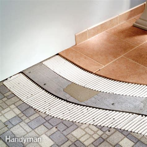 Laying Ceramic Floor Tile by Flats And Kit Homes For The Australian Market