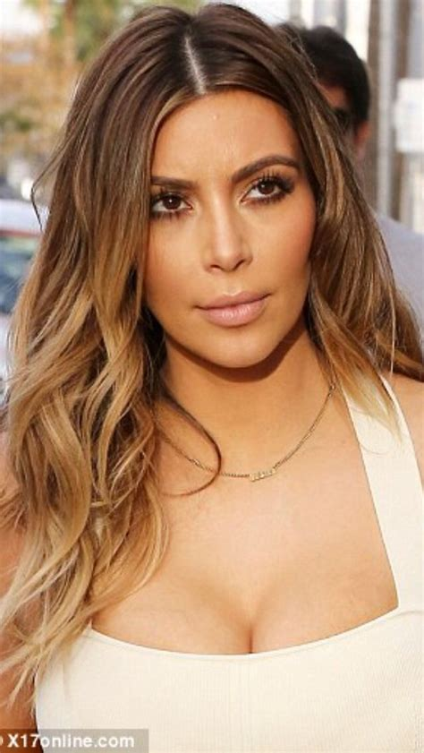 kim kardashian blonde balayage highlights photos kim kardashian blonde hair kim obsessed pinterest