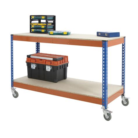 bench wheels classic mobile workshop garage work bench with 4