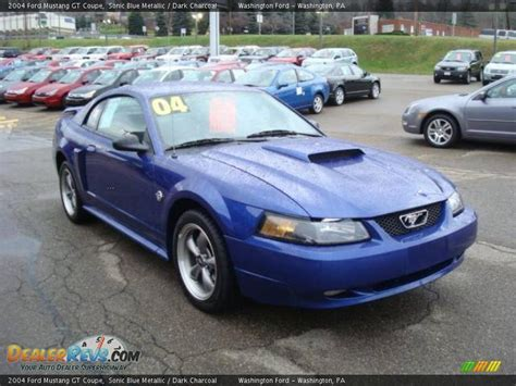 blue 2004 mustang 2004 ford mustang gt coupe sonic blue metallic