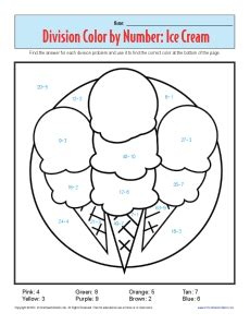 color by number division color by number printable division worksheets