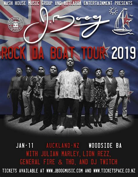 tickets for j boog rock the boat tour auckland in - Rock The Boat Tour Nz