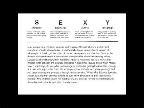 Essay Structure Sexc | writing a sexy paragraph youtube