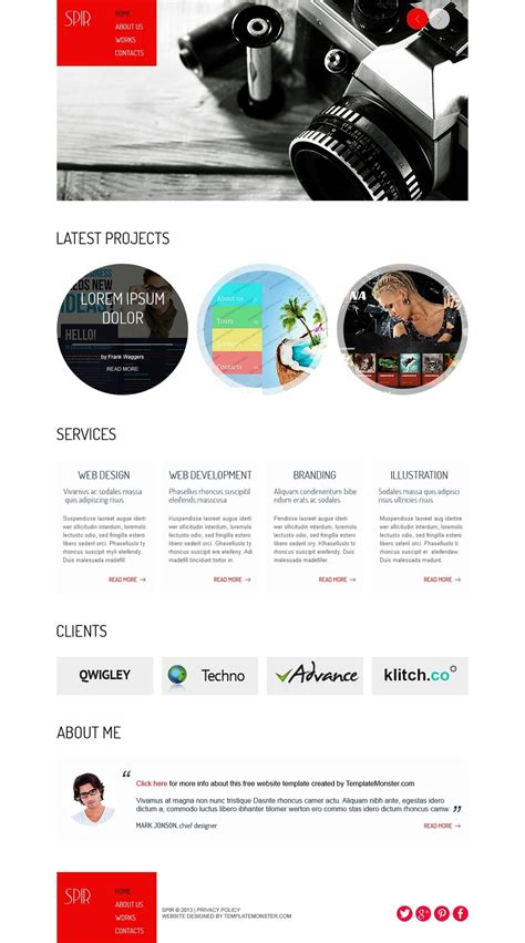 Free Html Template For Portfolio Website Free Templates Online Portfolio Website Html Template