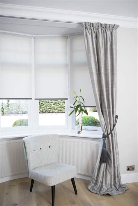 Bow Window Curtain Rod curtains and blinds for bay windows dressing bay windows