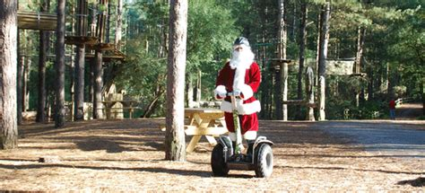 santa on a segway christmas trees and delights for all