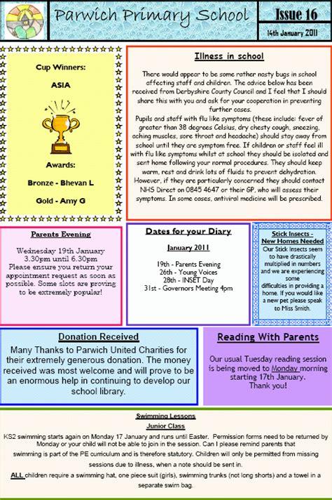 school newsletters    jonathan school school