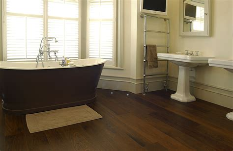 is hardwood flooring in bathroom a good idea