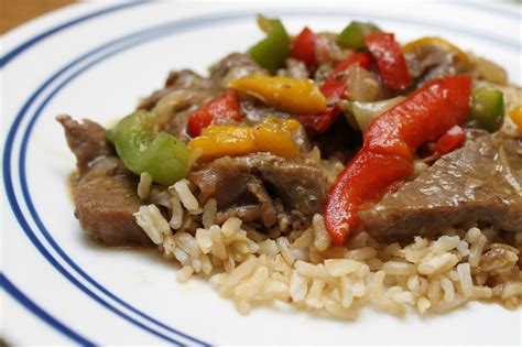 easy beef pepper steak rice recipes food world recipes