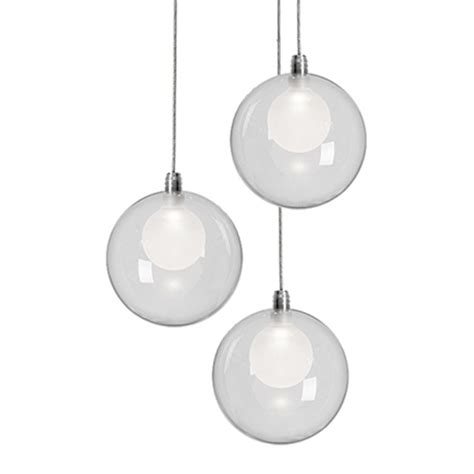 Multi Pendant Light Chrome Led Multi Light Pendant By Kuzco Lighting Mp3103 Destination Lighting