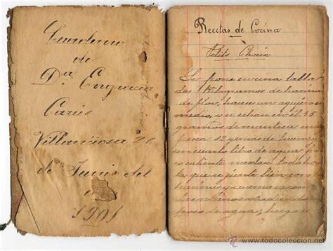 libros de cocina antiguos antiguo libro manuscrito de recetas cocina gas comprar