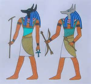 pictures in color anubis and wepwawet in color by hjbe on deviantart