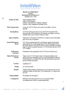 heads of agreement template free what to do when the hiring manager says name your terms