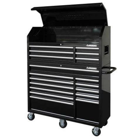 husky 52 in 18 drawer tool chest and cabinet set