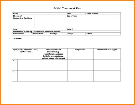 7 Counseling Treatment Plan Template Forklift Resume Counselling Plan Template