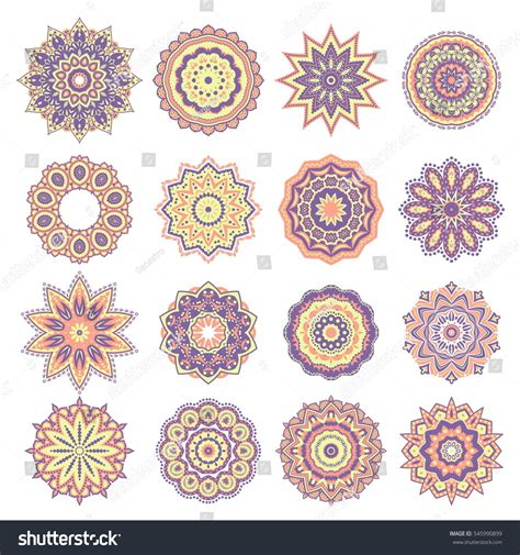 traditional design elements vector set oriental abstract round design elements stock vector