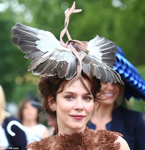 royal ascot hats anna friel hits royal ascot with a pigeon on her head