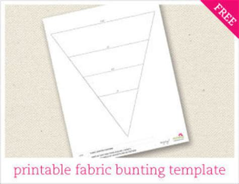 Fabric Bunting Template