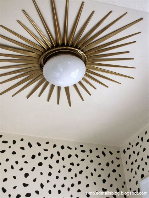Diy Ceiling Lights Simple Details Foyer Reveal Pizazz