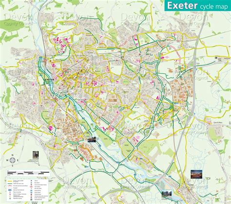 map uk exeter exeter cycle map maplets