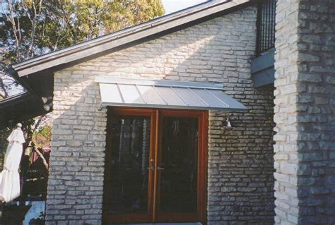 Aluminum Awnings For Doors by Door Awnings The Copper Door Awning With Single S Scrolls