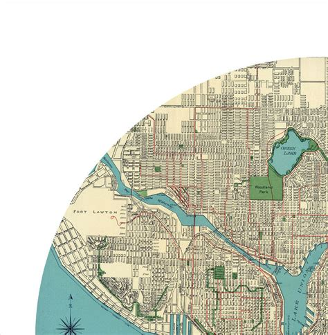 seattle map poster seattle city poster city map poster print maps