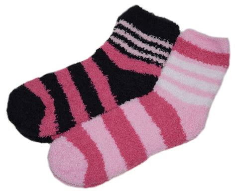 Bed Socks by Womens Striped Bed Socks 2 Pairs Fluffy Soft Fleece