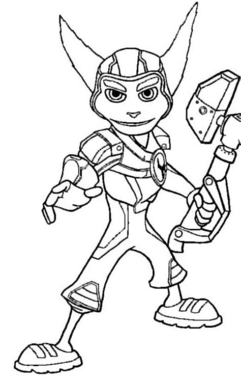 kids n fun com 6 coloring pages of ratchet and clank