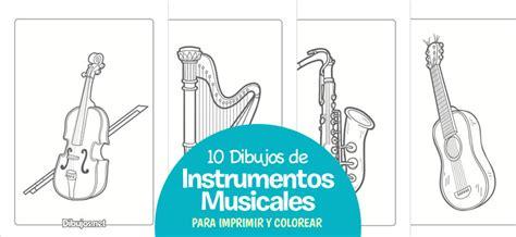 imagenes de instrumentos musicales para dibujar a lapiz 10 dibujos de instrumentos musicales para imprimir y