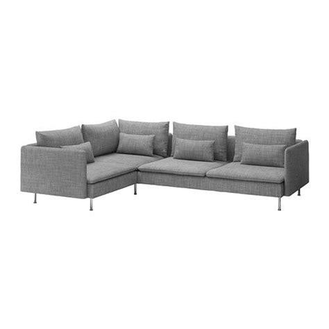 grey fabric corner sofa ikea s 214 derhamn ecksofa isunda grau ikea wg