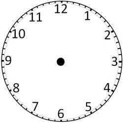 clock template for teaching time blank clockface without clipart best clipart