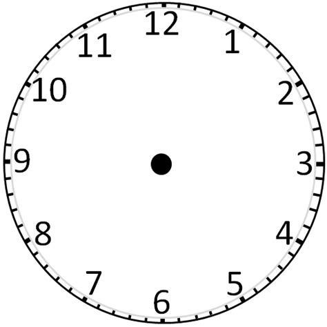 clockface template printable clock without clipart best