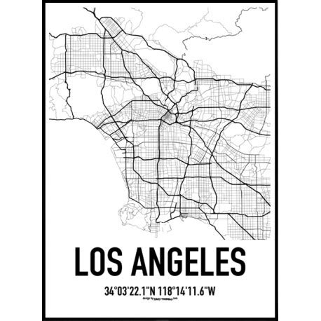 map of los angeles poster los angeles map poster find your posters at wallstars