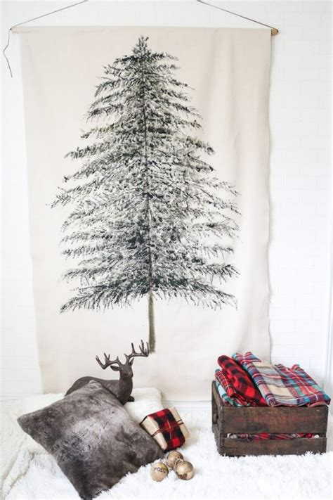 original holiday decor 13 diy wall christmas trees shelterness
