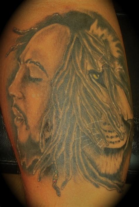bob marley lion tattoo tattoos piercings pinterest
