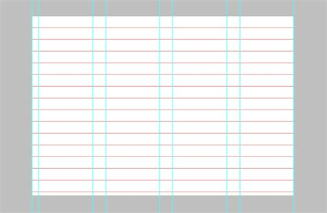column paper template how to establish your grid in photoshop smashing magazine