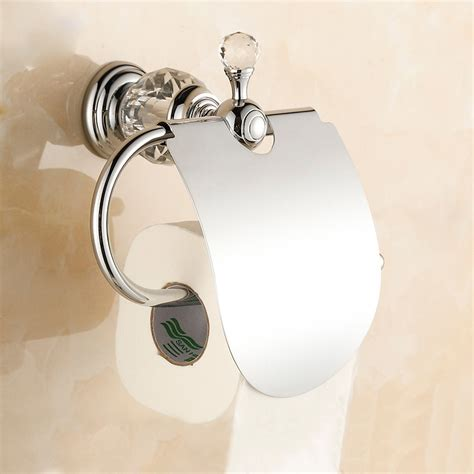 Luxury Toilet Paper Holder | free shipping european style luxury chrome crystal toilet