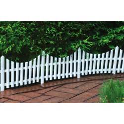 24 quot decorative outdoor picket fence white walmart