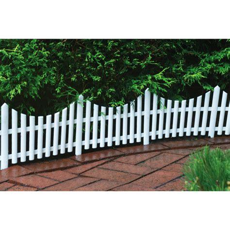 decorative garden fencing 24 quot decorative outdoor picket fence white walmart