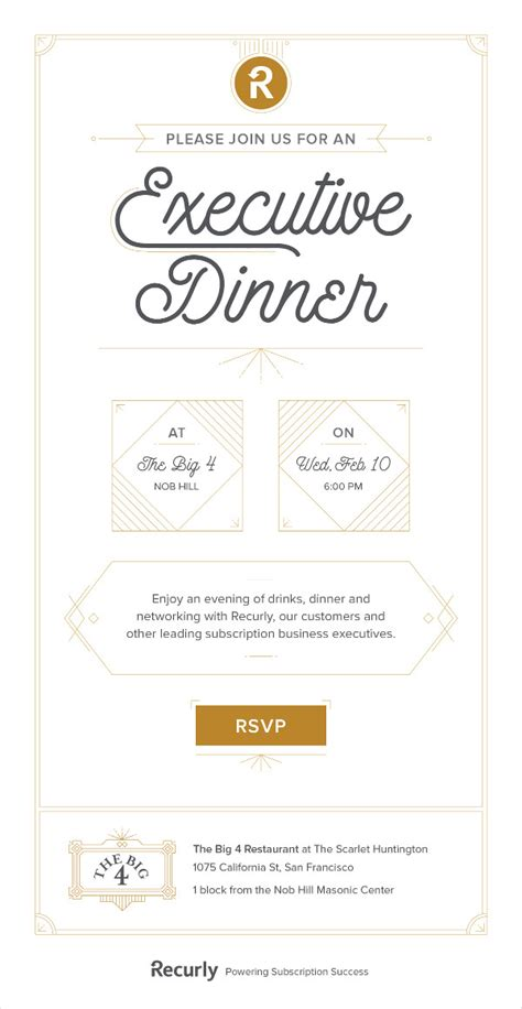 dinner invitation email template corporate dinner invitation email template style by