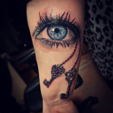 eye amp keys tattoo best tattoo design ideas
